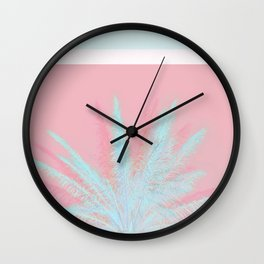 Aqua Palm Love Wall Clock