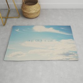 i'm at home in the clouds ... Rug