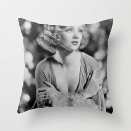 Ann Southern, Hollywood Starlet black and white photograph / black and white photography Throw Pillow