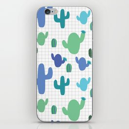 Cactus blue and green #homedecor iPhone Skin