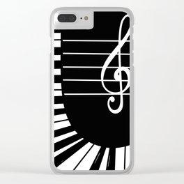 Piano Keys I Clear iPhone Case
