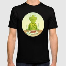 Kermit Loves Facon Mens Fitted Tee MEDIUM Black