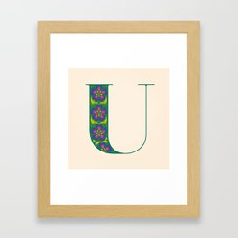 U - Amarilis Framed Art Print