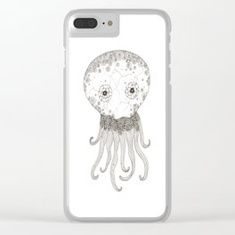Cracked Octopus Clear iPhone Case