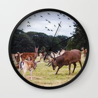 marauders Wall Clocks featuring Mr Prongs and other Marauders by Gioia De Antoniis