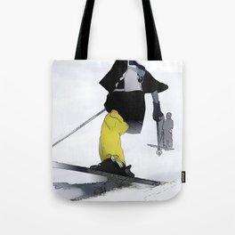 Ski Run Finish Tote Bag