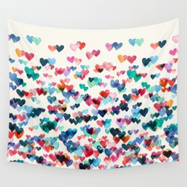 Heart Connections - watercolor painting Wall Tapestry