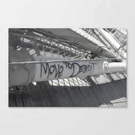 Brooklyn Bridge Graffiti  Canvas Print