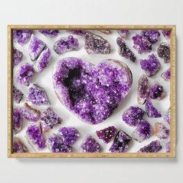 Amethyst Hearts Mandala Serving Tray
