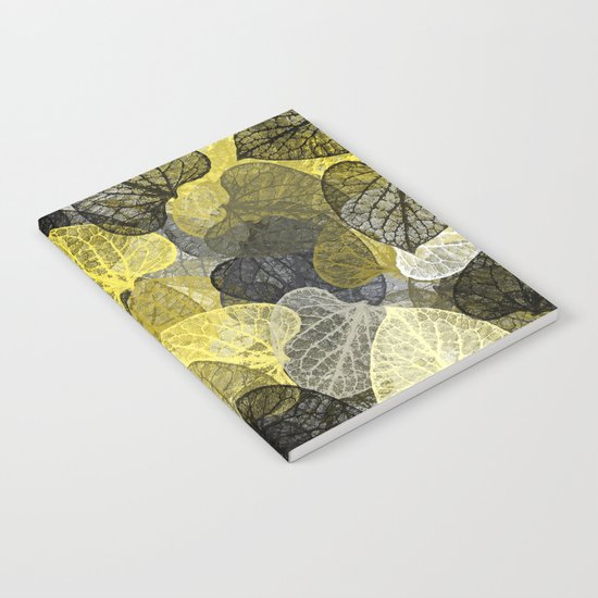 Black & Gold Leaf Abstract Notebook