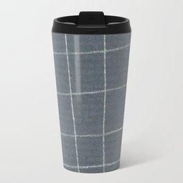 Silver grid Travel Mug