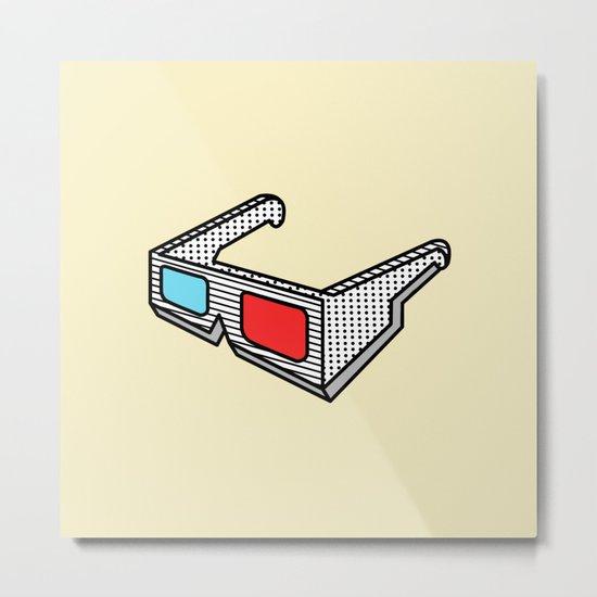 3d glasses Metal Print