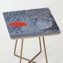 Orange Umbrella Side Table