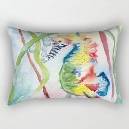 Colorful Seahorse Rectangular Pillow
