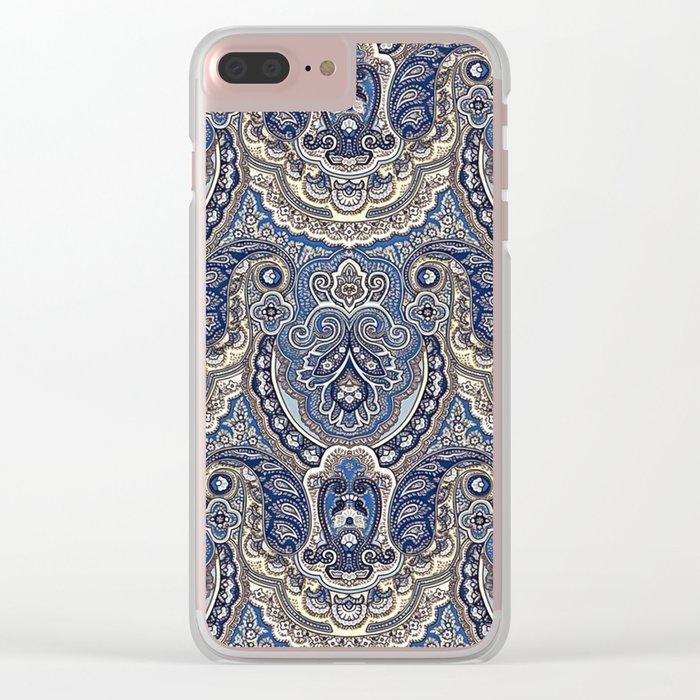 Boho paisley pattern Clear iPhone Case
