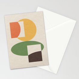 Geometric Abstract 01 Stationery Cards