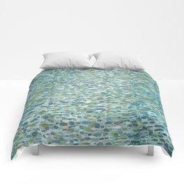 Blue Raindrops Juul art Comforters