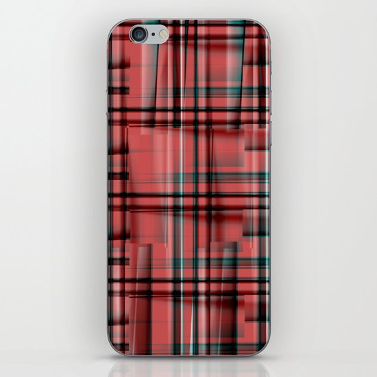 Pattern red 1 iPhone & iPod Skin
