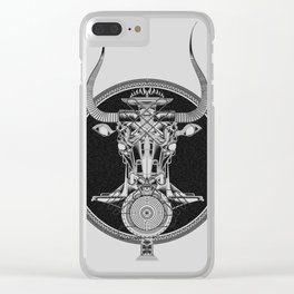 MINOTAUR_GREY Clear iPhone Case
