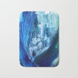 Cerulean [5]: a vibrant blue abstract with texture and layers Bath Mat