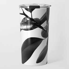Ficus Elastica Black & White Vibes #1 #foliage #decor #art #society6 Travel Mug