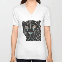 cheetah V-neck T-shirts featuring Cheetah by  Steve Wade ( Swade)