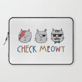 Check Meowt Laptop Sleeve