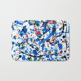 Abstract #23 - Frenzy in Blue Bath Mat