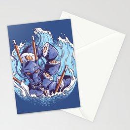 Sushi Dragon Japanese Art Stationery Cards