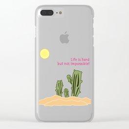 Cactus/Desert_concept_Design Clear iPhone Case