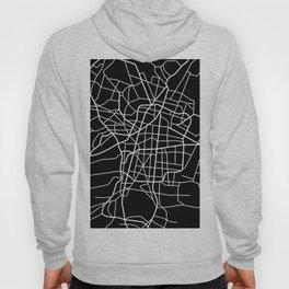 Mexico City, Mexico - Black Map Hoody