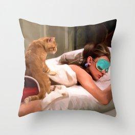 Audrey Hepburn #4 @ Breakfast at Tiffany's Throw Pillow