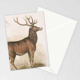 Vintage Illustration of a Round Horned Elk (1872) Stationery Cards
