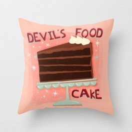 Devil's Food Cake An All American Classic Dessert Throw Pillow