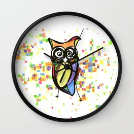 Lechuza abstracta color Wall Clock