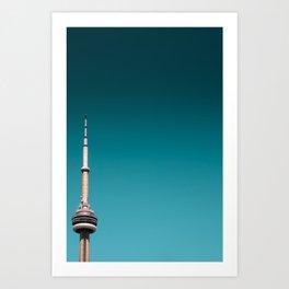 CN Tower top half Art Print