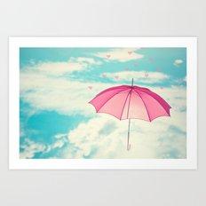 Raining Hearts Art Print