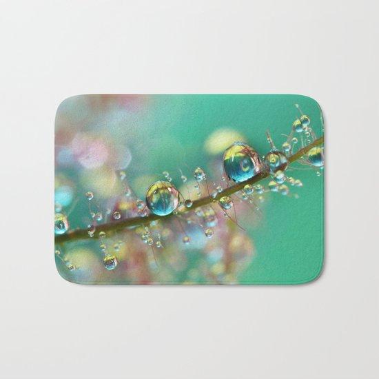 Smokey Rainbow Drops Bath Mat
