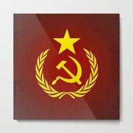 Communist Flag Metal Print
