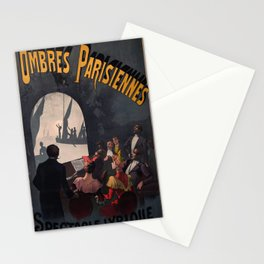 retro plakat Ombres Parisiennes Stationery Cards