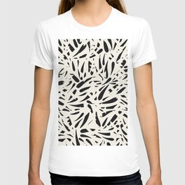 Bamboo Leaves in Black and Ivory / Ink Mood T-shirt
