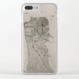 Vintage Map of San Francisco CA (1905) Clear iPhone Case