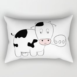 SOLD! Scary Cow - Inspired by a True Incident! Rectangular Pillow