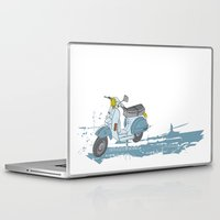 vespa Laptop & iPad Skins featuring Vespa by mtheb