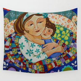 """""""Me, My Son And An Old Blanket"""" Wall Tapestry"""
