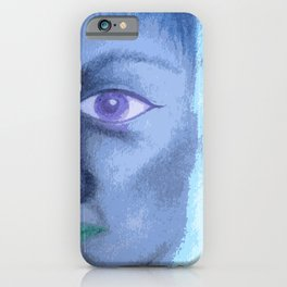 Half Face Abstract iPhone Case