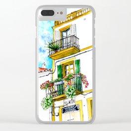 Casa carrer Sta Creu - Ibiza Clear iPhone Case