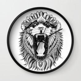 Lions + Patterns Wall Clock