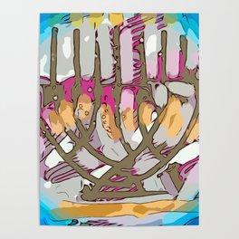 Hanukkah menorah light Poster