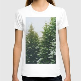 Winter Pine Tree Forest (Color) T-shirt